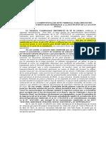 COMPETENCIA PARA RESOLVER INCIDENTES Y EXCEPCIONES