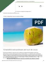 Beneficiile cocosului