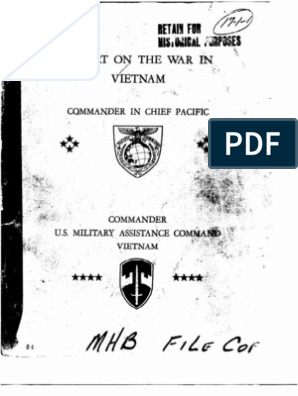 Command Report on the War in Vietnam (to Mid-1968)   Vietnam War