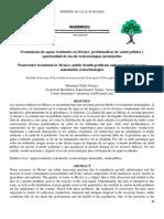 Tratamiento de aguas residuales en Mexico_Problematicas de salud _2018