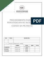 SK-PR-HSE-02 INVESTIGACION DE INICIDENTES