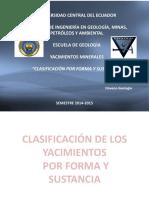 CLASIFICACION POR FORMA Y SUSTANCIA