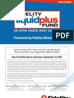 Fidelity Liquid Plus Fund
