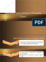 Demand Forecasting in a Supply Chain
