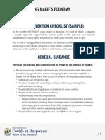 Restarting Maines Economy Sample Car Dealership Checklist