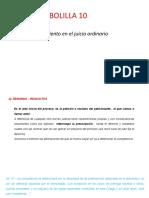 procedimiento en el juicio ordinario