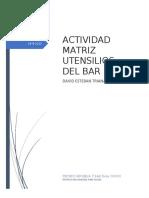 ACTIVIDAD MATRIZ UTENSILIOS DEL BAR