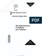 The Radio Chemistry of Niobium and Tantalum.us AEC