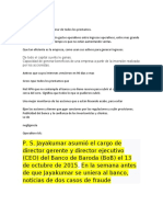 Fraude Banco Baroda español