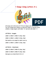 Alphabet Songs Letters A to  L