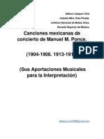 Canciones Mexicanas de concierto MANUEL M PONCE