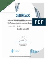 modelo certificado conclusão