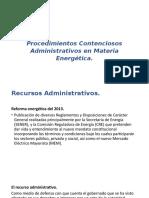 Procedimientos Contenciosos Administrativos en Materia Energética