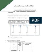 Determinación de fármacos mediante HPLC- Ejercicio