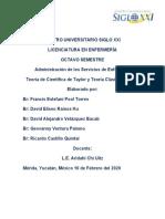 Teoría científica y principios de administración de Taylor.docx