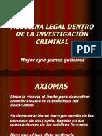MEDICINA LEGAL DENTRO DE LA INVESTIGACION CRIMINAL.ppt