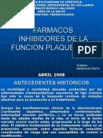 FARMACOS INHIBIDORES DE LA FUNCION PLAQUETARIA.ppt