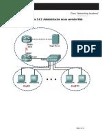 Práctica de laboratorio 3.4.2 Administración de un servidor Web.docx