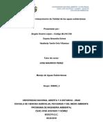 Fase 3 - Análisis e interpretación de Calidad de las aguas subterráneas