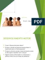AULA PEDIATRIA DESENVOLVIMENTO MOTOR 0 A 1 ANO
