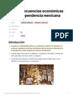 Las Consecuencias Económicas de La Independencia Mexicana