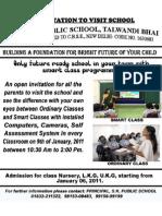 Invitation to Visit School