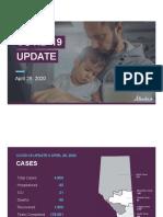 Alberta COVID-19 Case Modelling Projection April 28