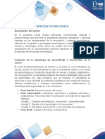 Presentación del Curso Gestión Tecnológica