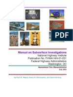 Manual of Subsurface Investigation