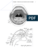 Aid to Tajweed - Parts of Mouth in Arabic & English