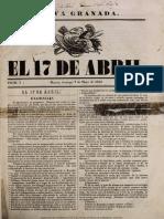 Periódico El 17 de abril (No.1) (1854)