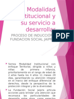Modalidad Institucional y su servicio a desarrollar