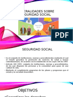 Generalidades sobre seguridad social
