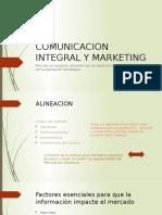 COMUNICACION INTEGRAL Y MARKETING