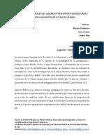 Relatoria sobre la ponencia del doctor Julian de Zubiria