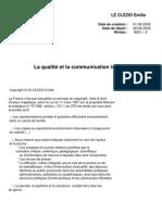 La Qualite Et La Communication Interne