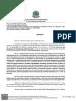 Despacho Justiça Federal -- Suspensão das atividades não essenciais no DF