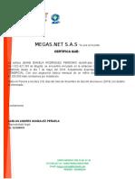 CERTIFICACION MEGAS