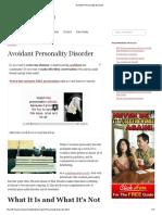 3.Avoidant Personality Disorder