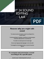 unit 24 sound editing