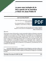 Apuntes Par Auna Teología de La Educación JL Meza