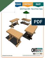 OZCO Project #501 - Patio & Picnic Tables