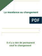 resistance au changement exposé