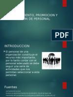 RECLUTAMIENTO, PROMOCION Y EVALUACION DE PERSONAL