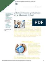 El Rol del Docente y Estudiante en la Educación Virtual - Educación Virtual