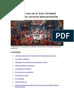 La Última Cena en el Arte virreinal peruano, y su correcta interpretación