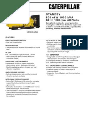 1000kva Cat Generator | Diesel Engine | Radiator