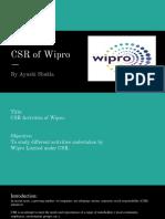 CSR in Wipro