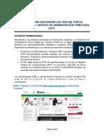 Proceso Para Descargar Los Cfdi Del Portal Electr Nico Del Servicio de a...