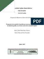 01 Propuesta de un modelo de gestión por procesos en PYMES de la industria gráfica en el sector norte de la ciudad de Quito